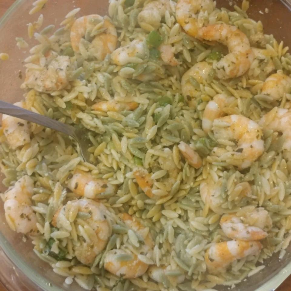 Shrimp Orzo Pesto