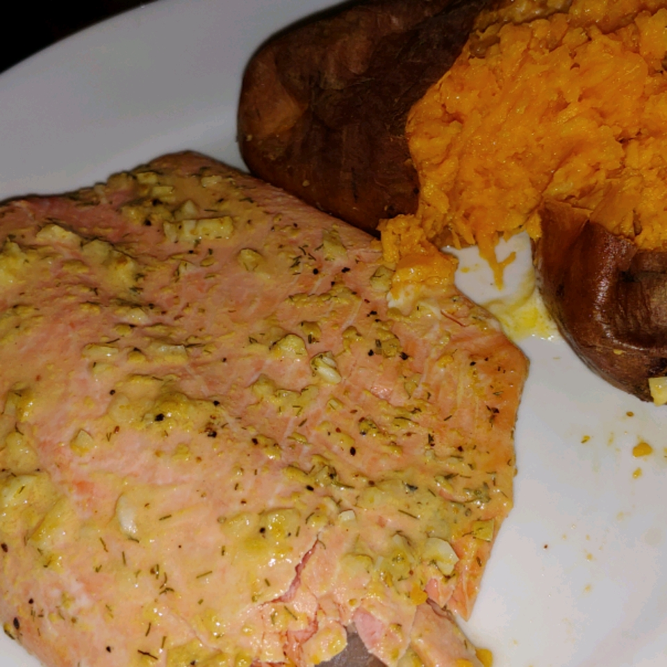 Steelhead Trout Bake with Dijon Mustard Leanza Cornett