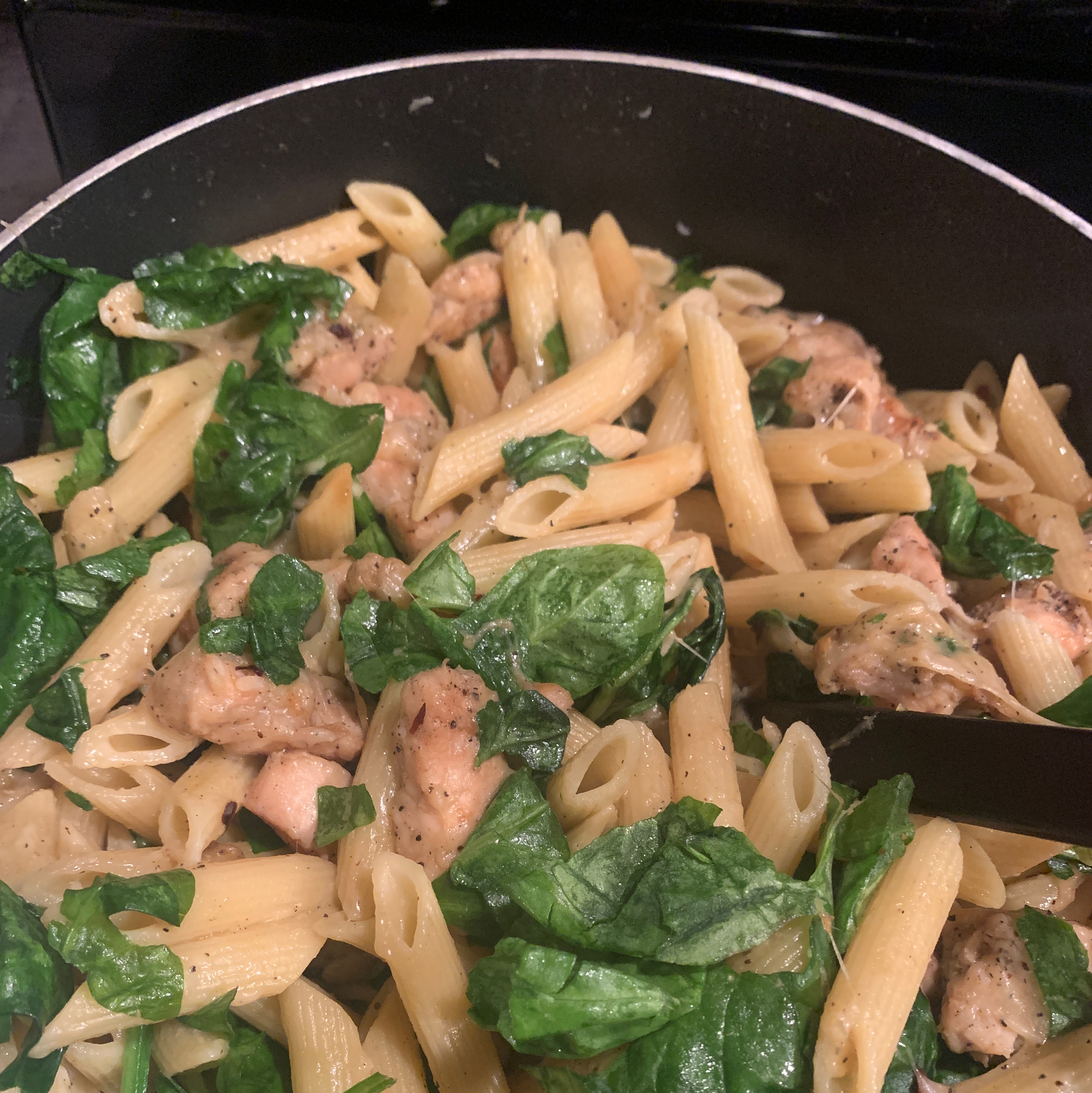 Spinach and Grilled Chicken Penne