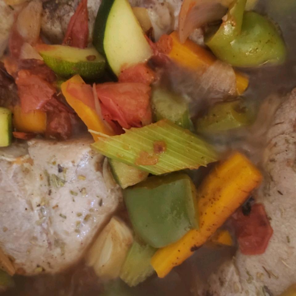 Summer Garden Pork Chops