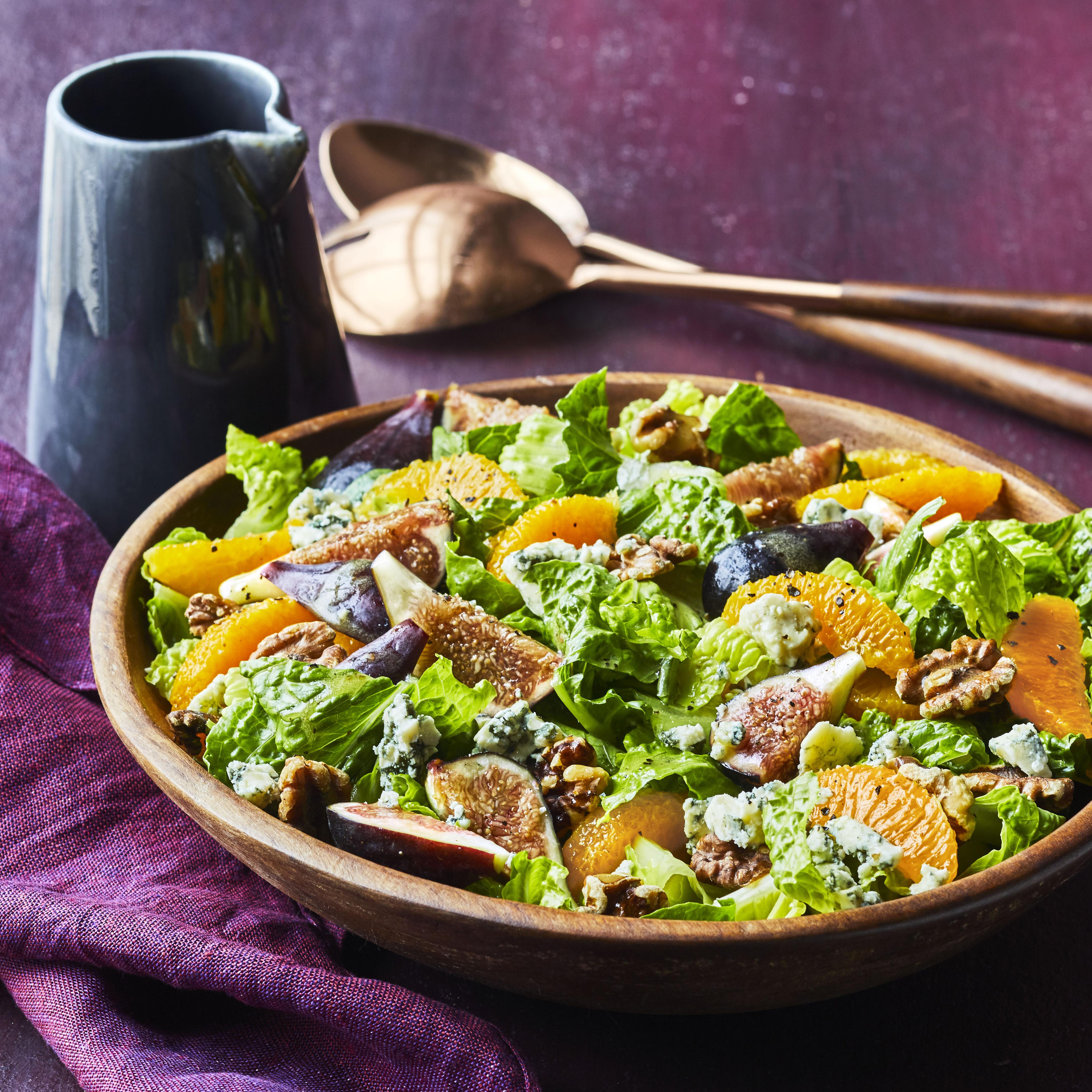 Orange, Fig, and Gorgonzola Salad Allrecipes Magazine