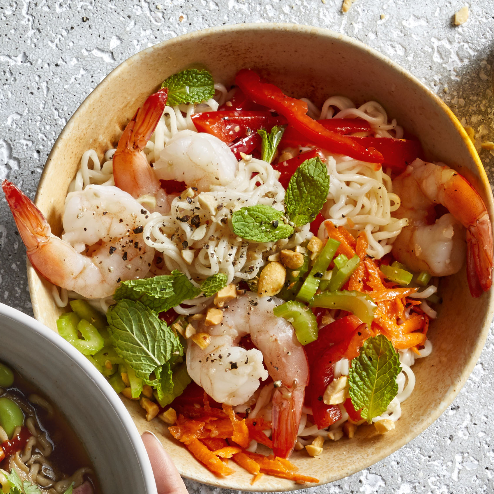 Shrimp Noodle Bowls Allrecipes Magazine