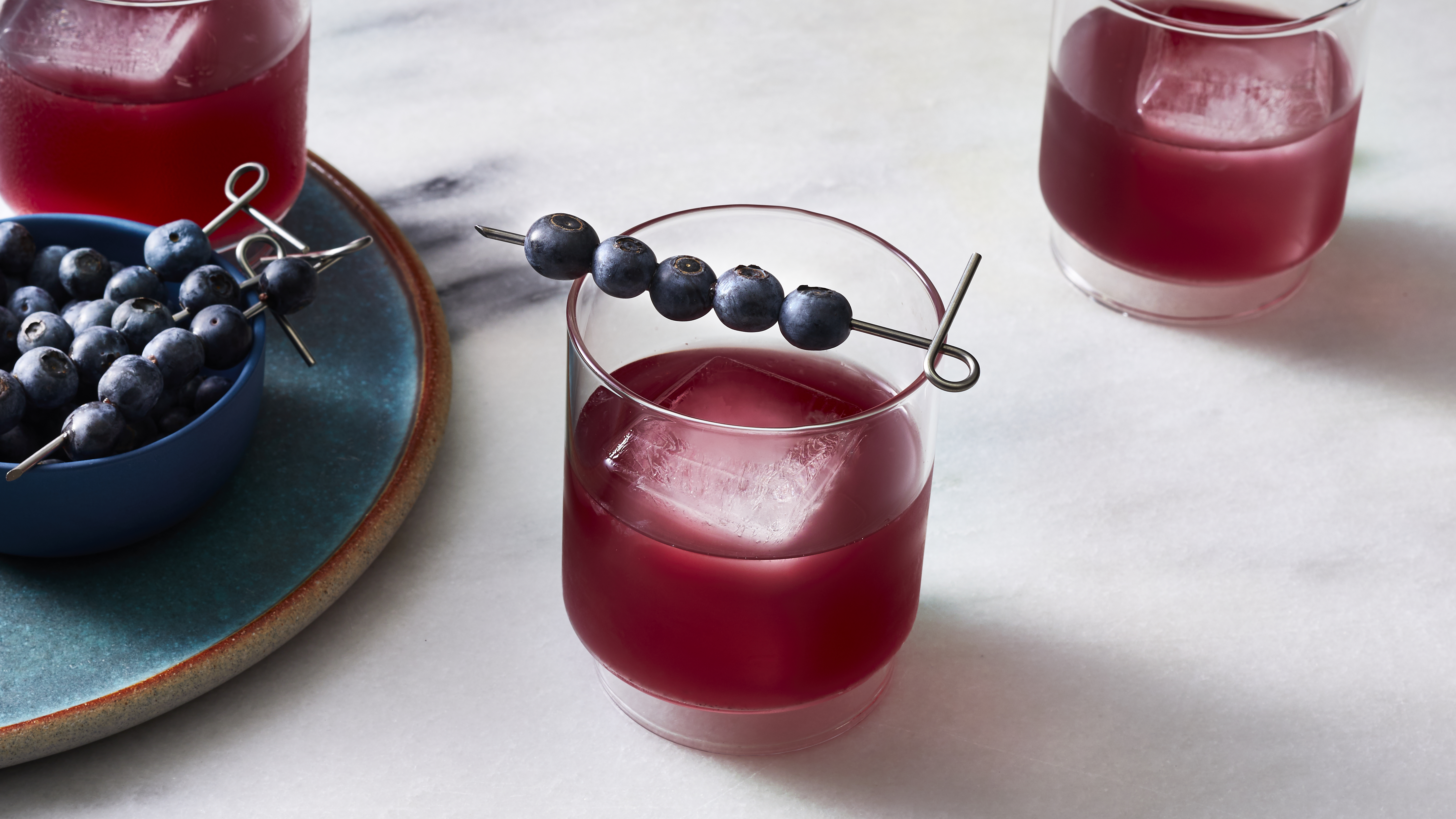 Sparkling Blueberry-Ginger Lemonade
