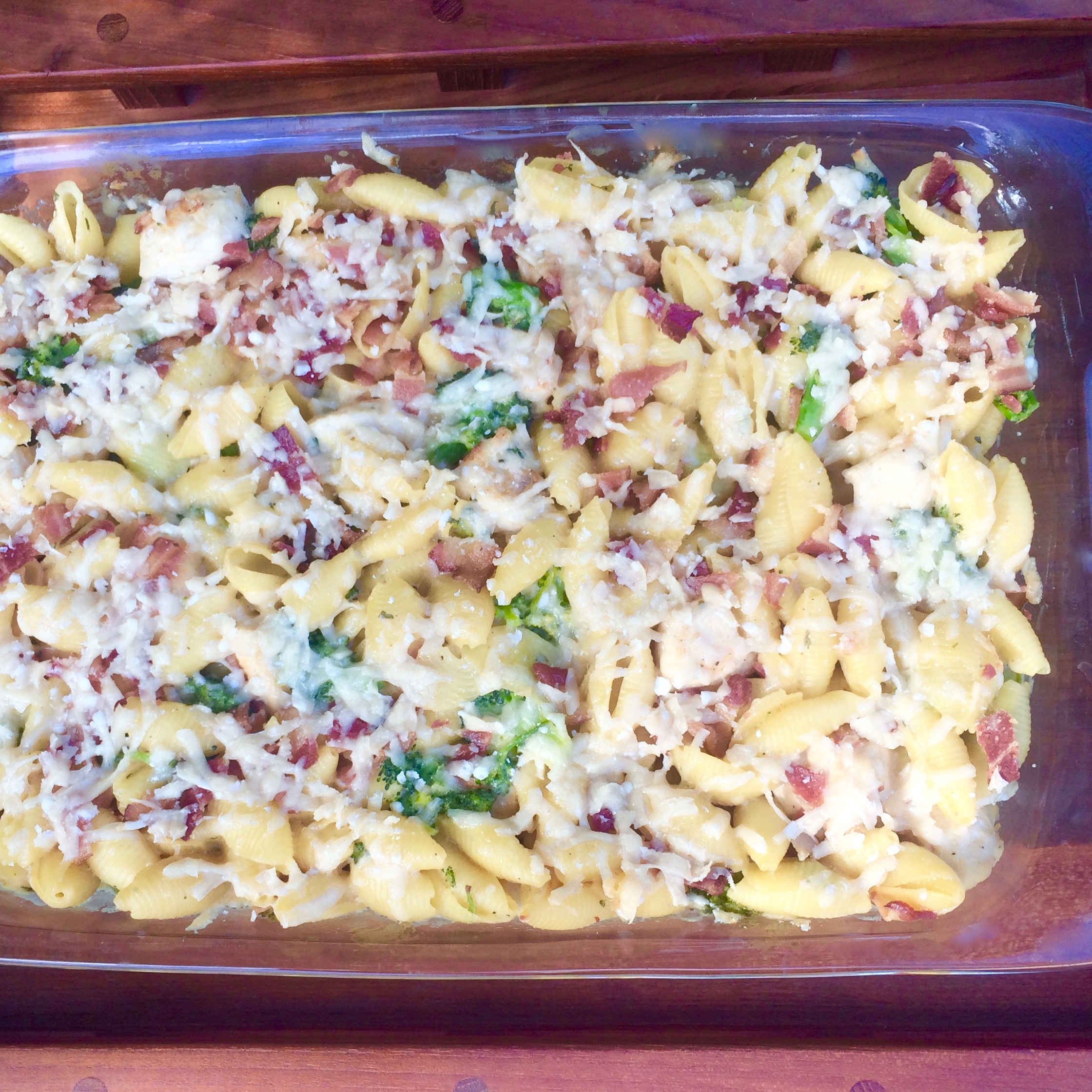 Baked Bacon Ranch Chicken and Pasta