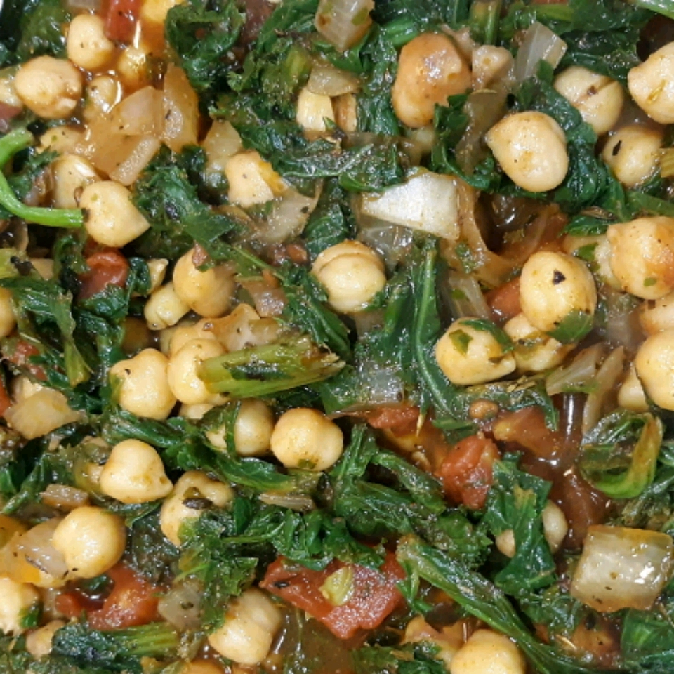 "Sandy's Chickpea and Spinach Stew ""Kane"""