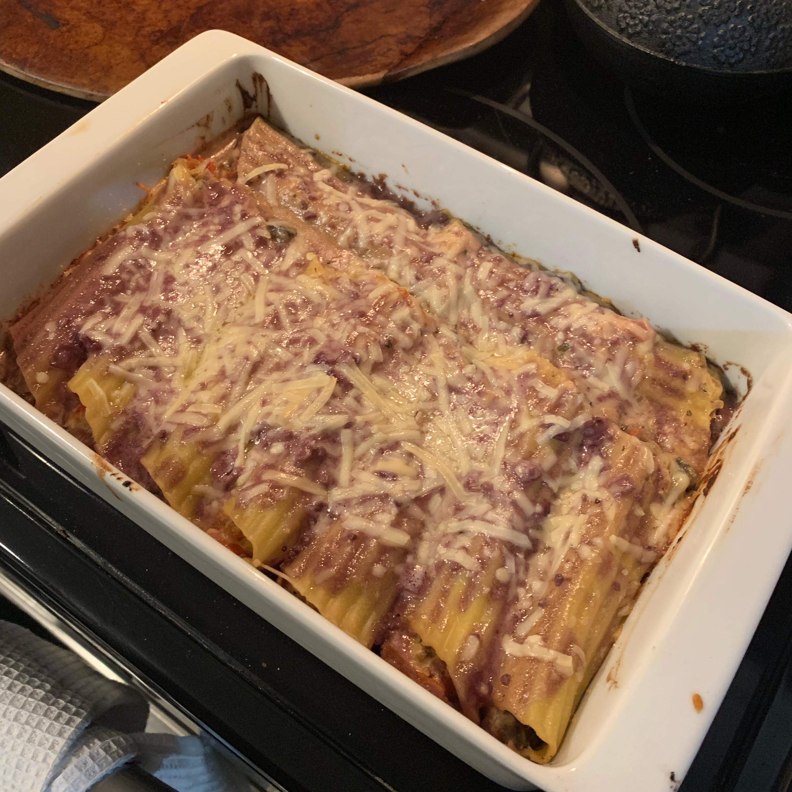 Vegetable Stuffed Cannelloni