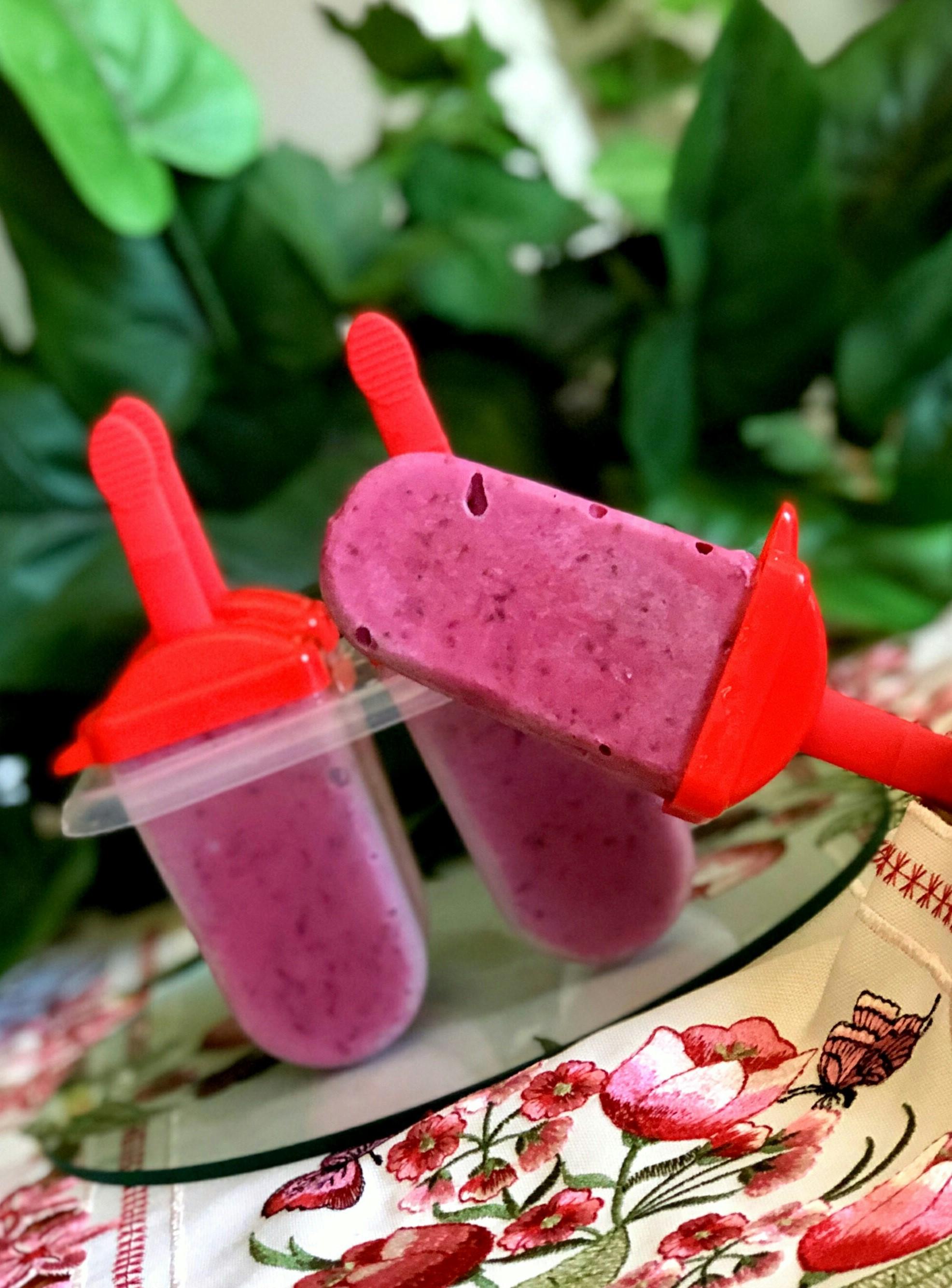 Peach-Blackberry Yogurt Pops