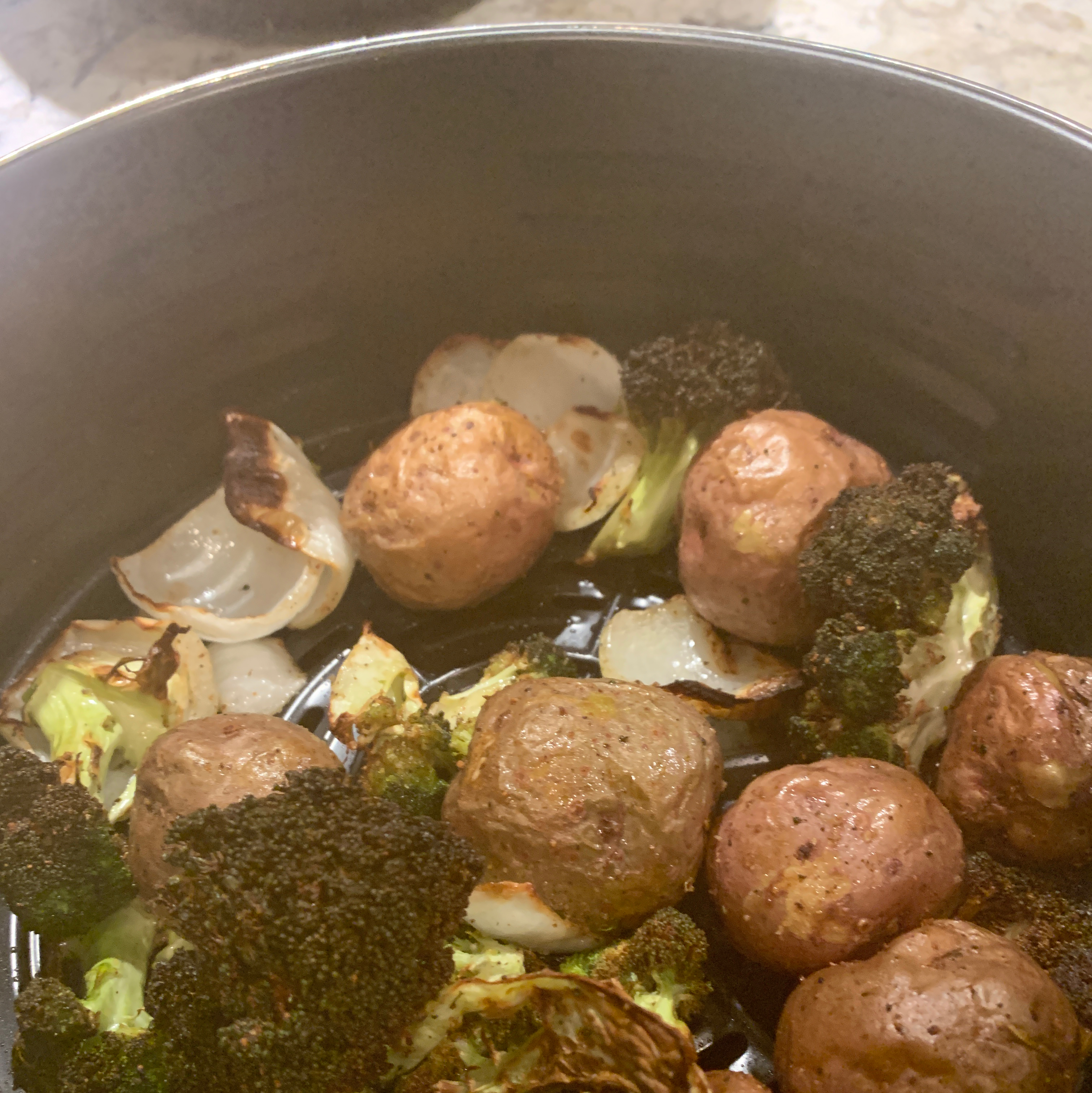 Simple Air Fryer Brussels Sprouts conniejgarrett