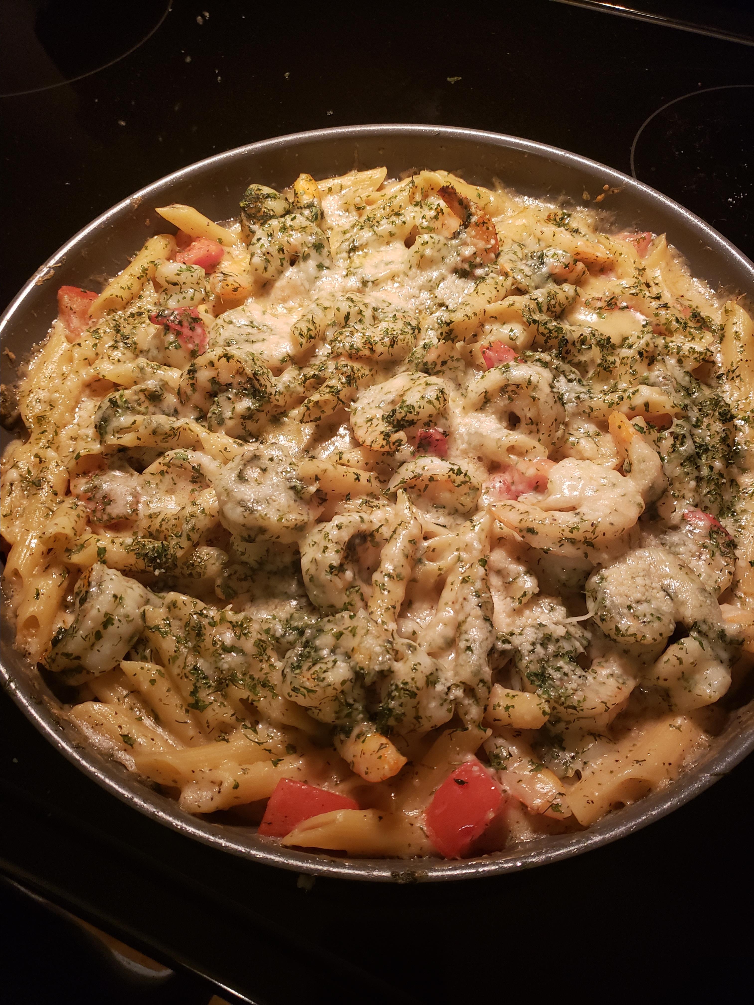 Garlic Shrimp Pasta Bake Robert Helin
