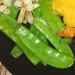 Lemon-Butter Snow Peas Em