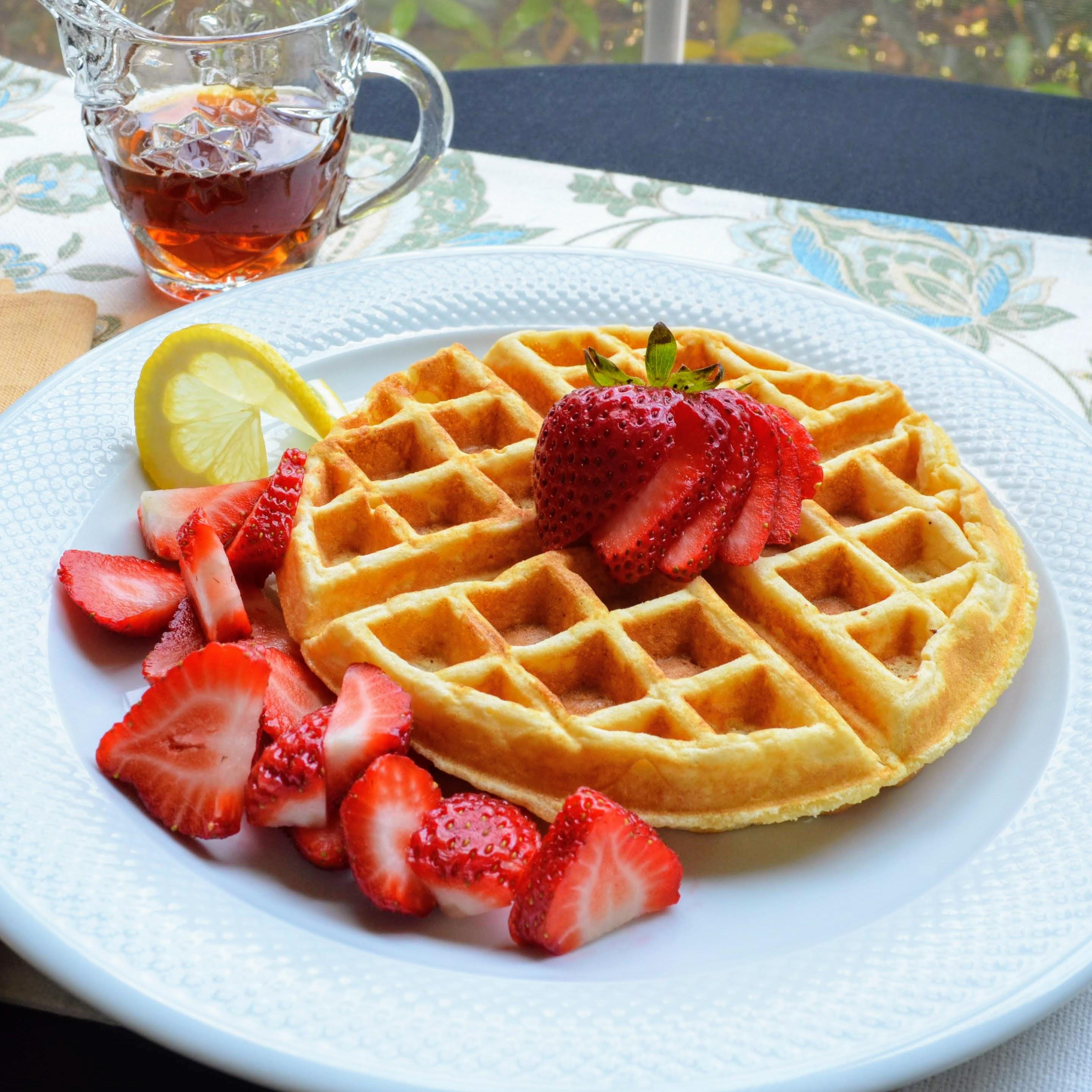 Lemon-Ricotta Cornmeal Waffles
