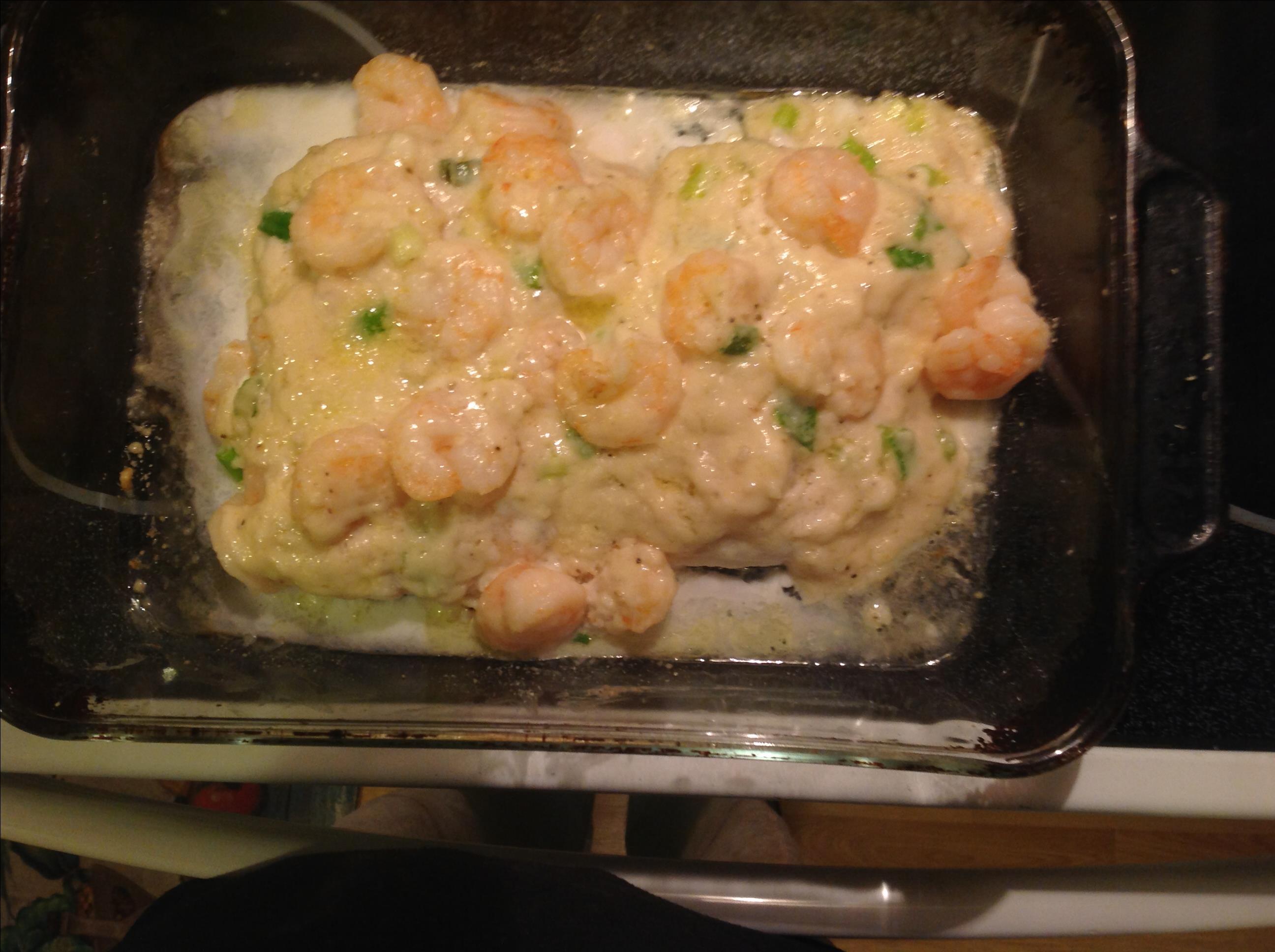 Baked Fish with Shrimp Etcm