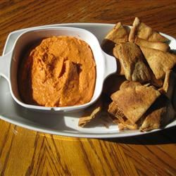 Spiced Sweet Roasted Red Pepper Hummus Michelle Bonham