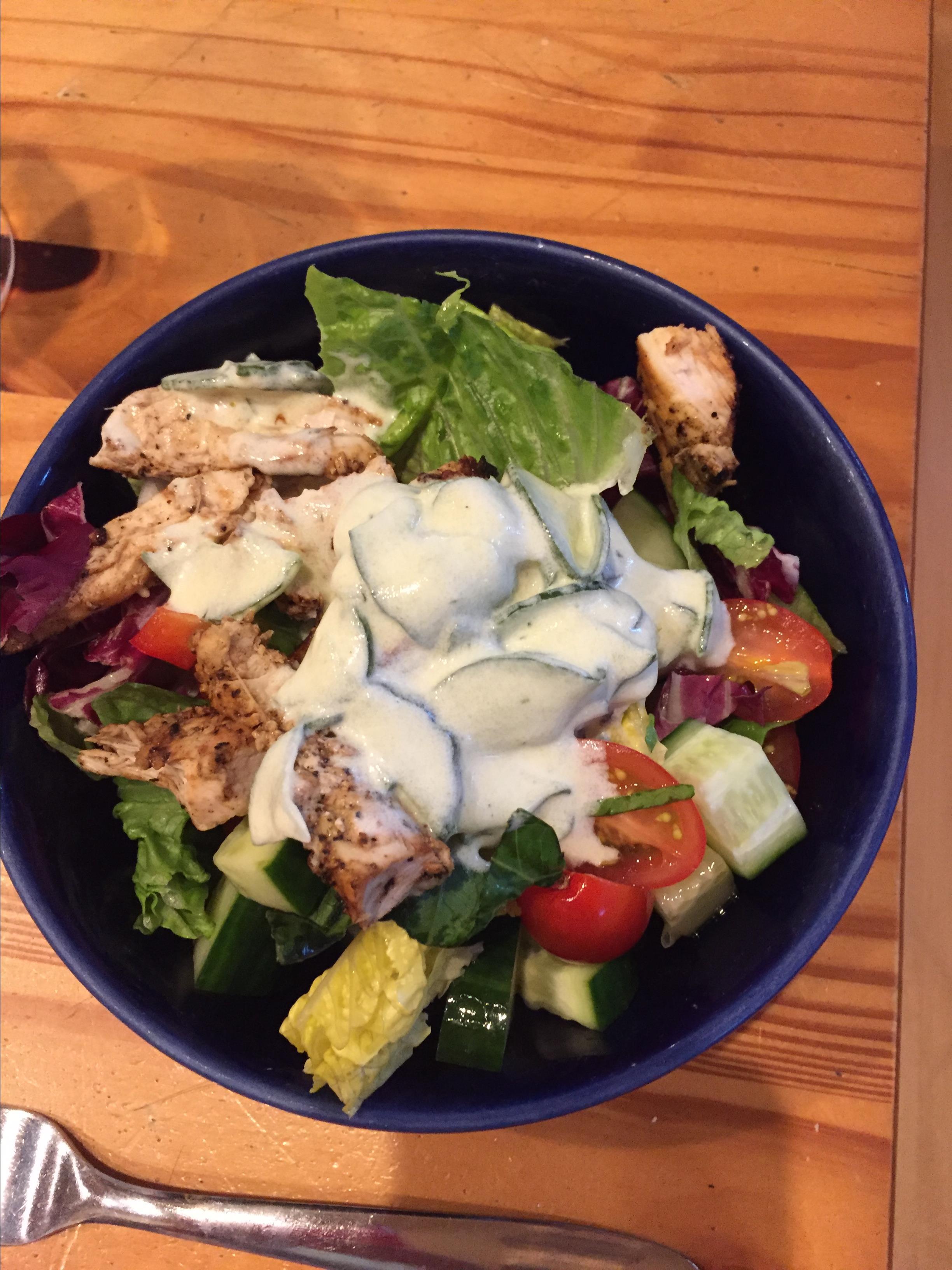 Chicken Souvlaki Salad mcduffsmom
