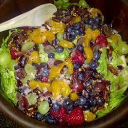 Grilled Chicken Salad with Seasonal Fruit mattkaplan