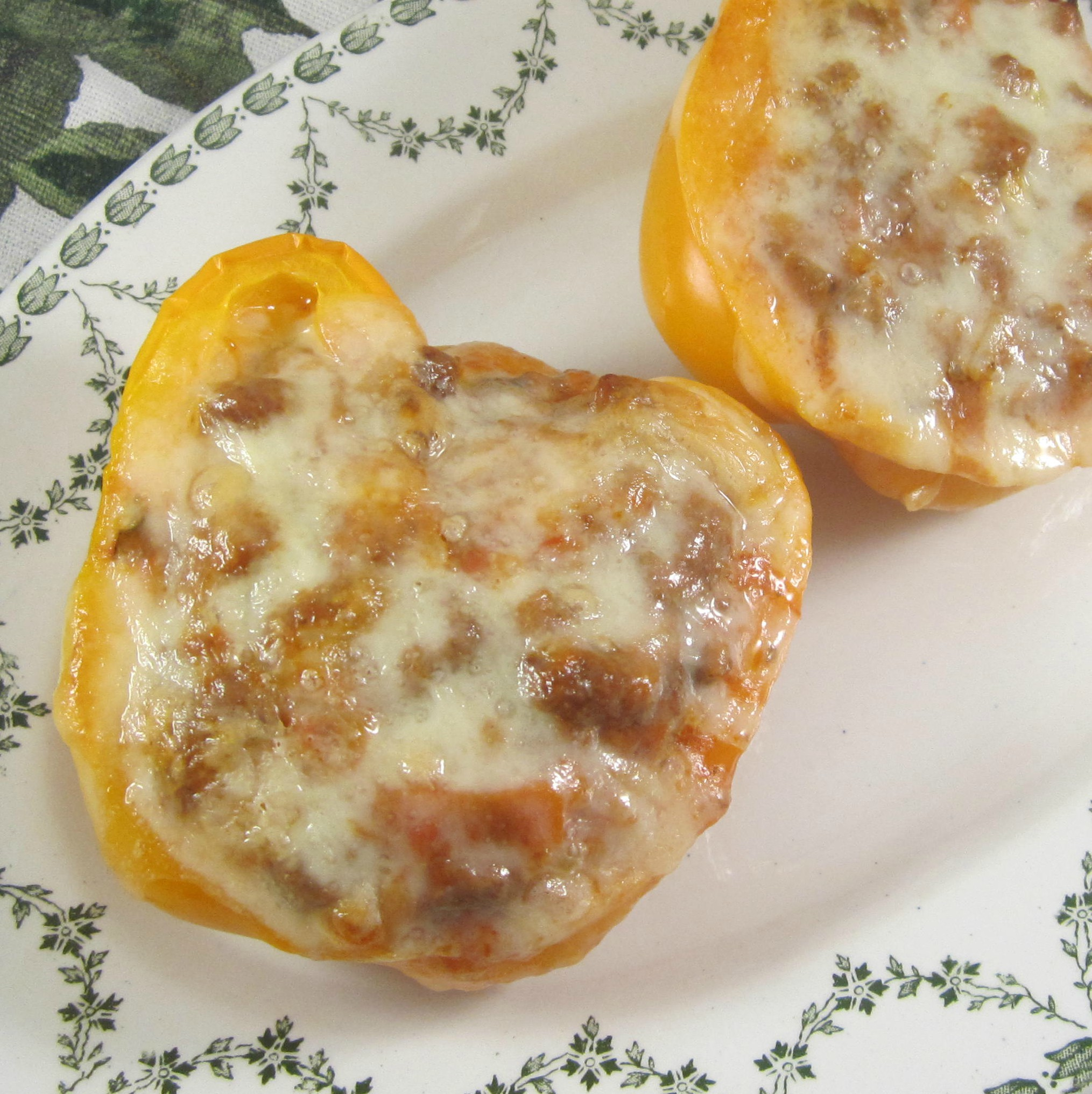 Bolognese Stuffed Bell Peppers Deb C