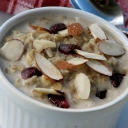Cherry Almond Oatmeal mominml