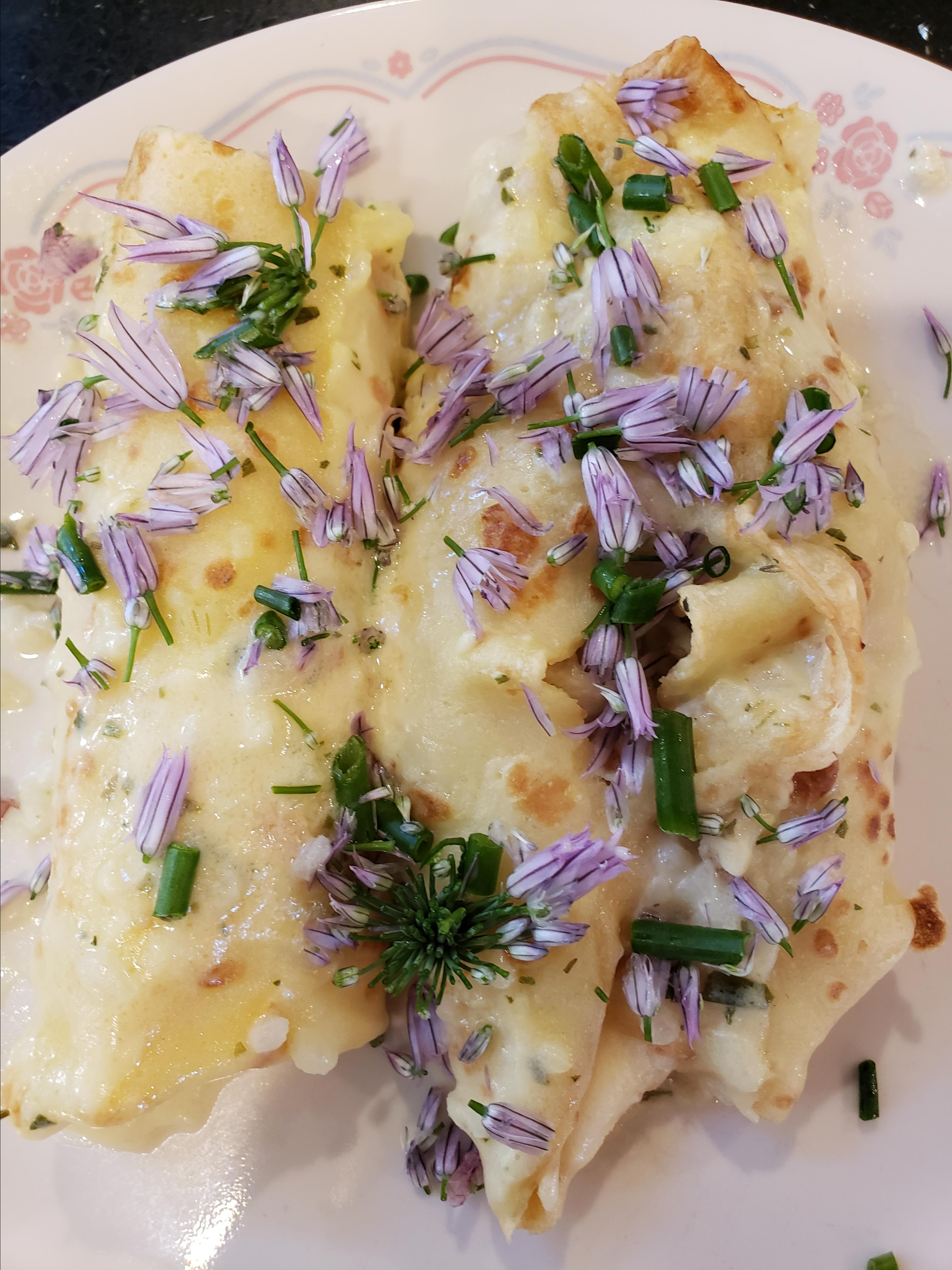 Chicken or Turkey Crepes with Tarragon TPSwift