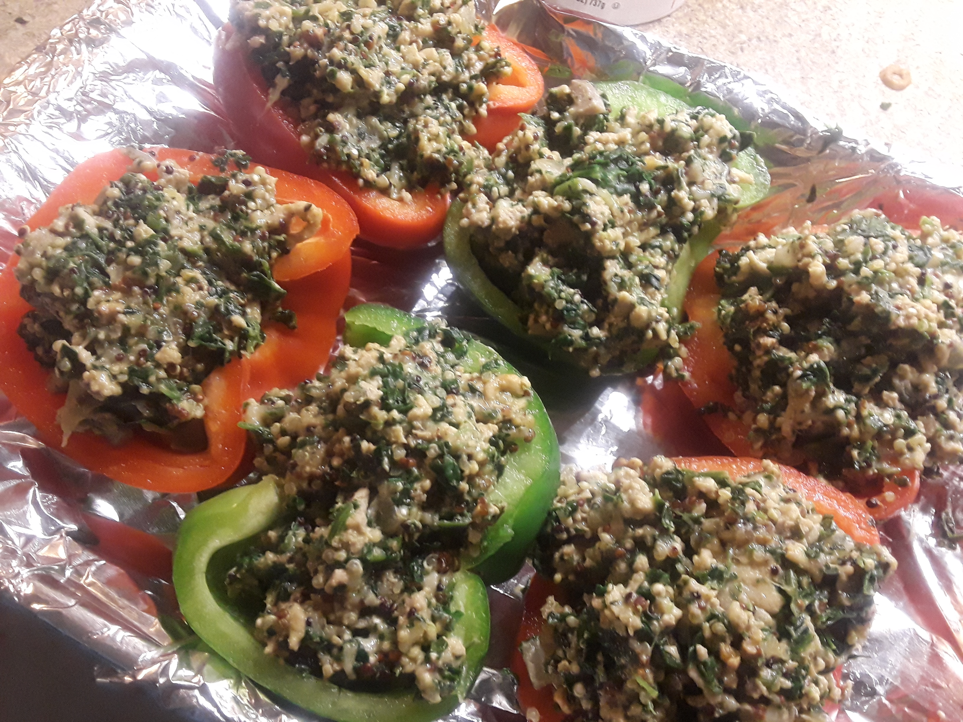 Chicken & Quinoa Stuffed Peppers Desiree Napoleon