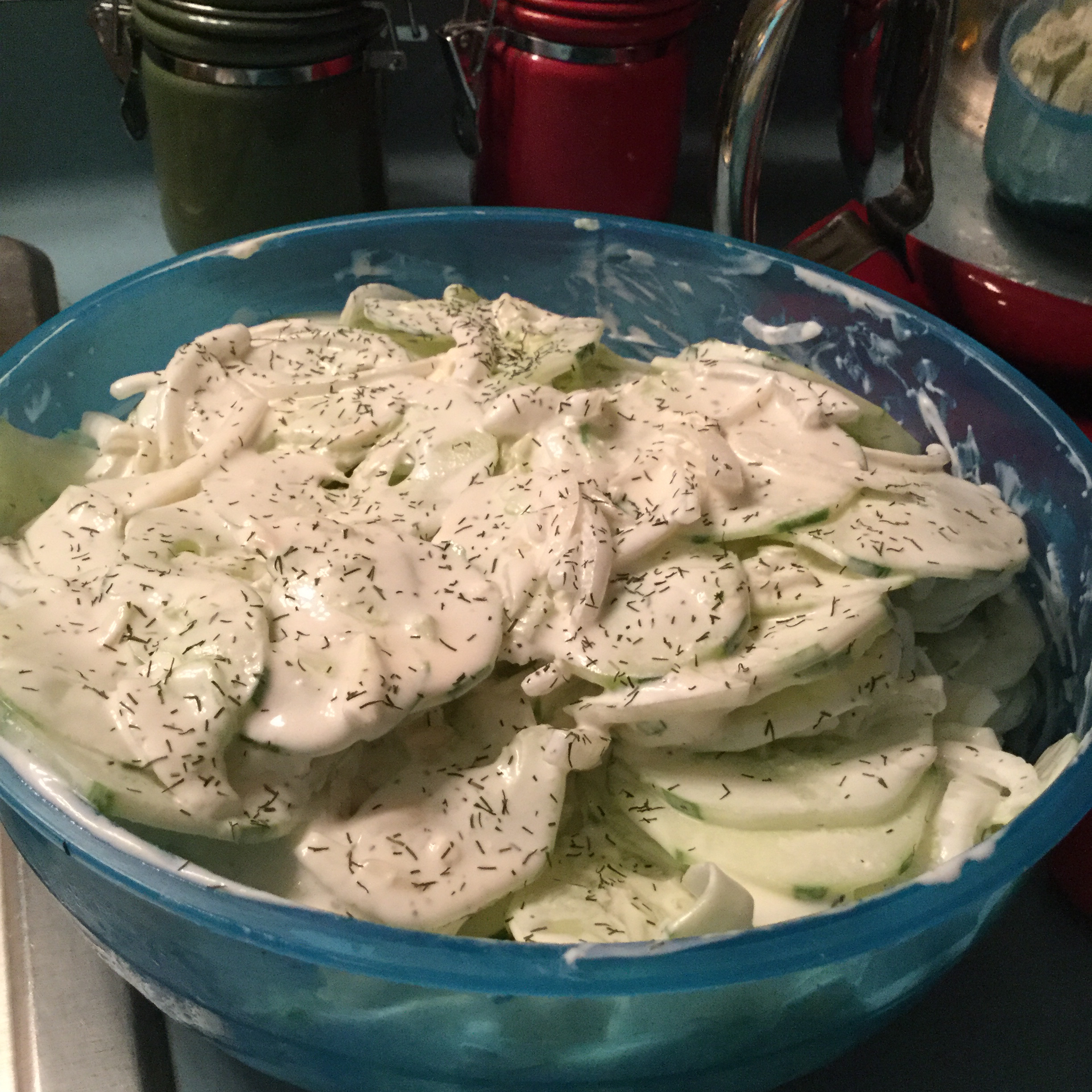 Cool and Creamy Cucumber Salad