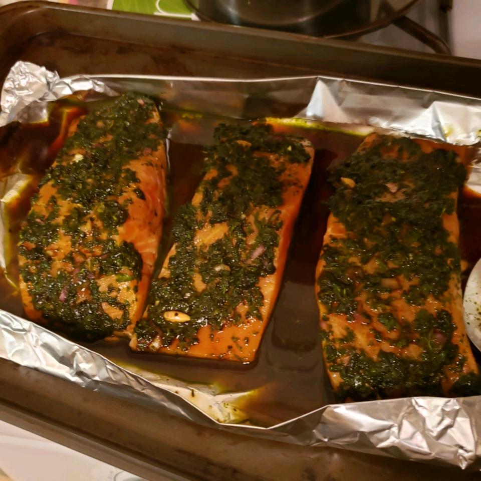 Anne's Fabulous Grilled Salmon Joe