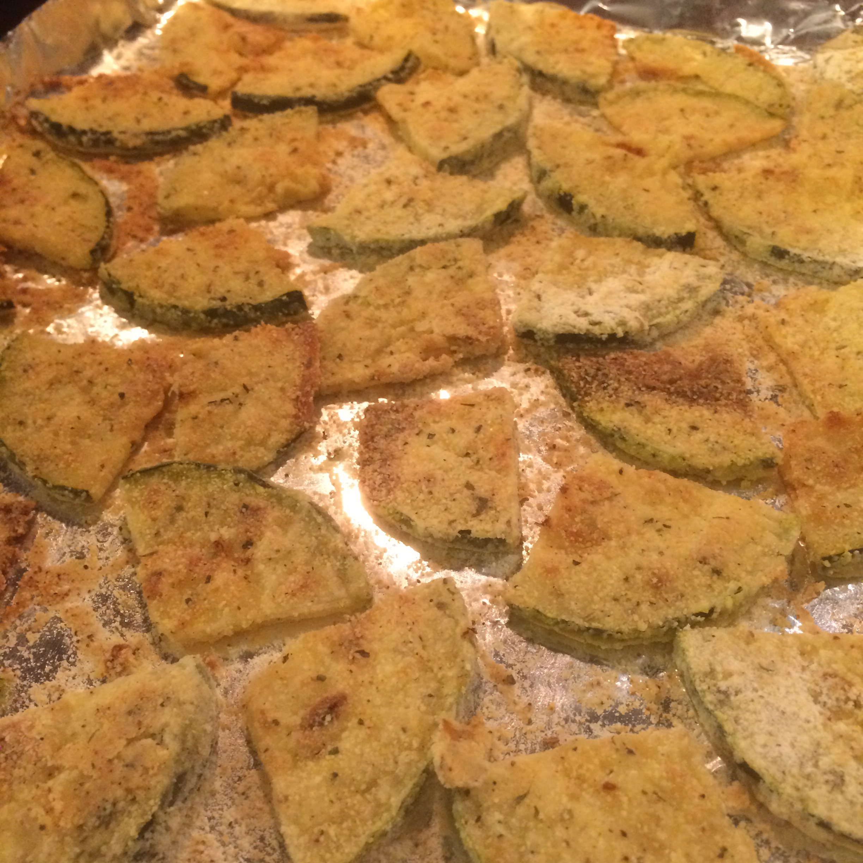 Vegan Crispy Baked Zucchini Rounds Christina M. Cones