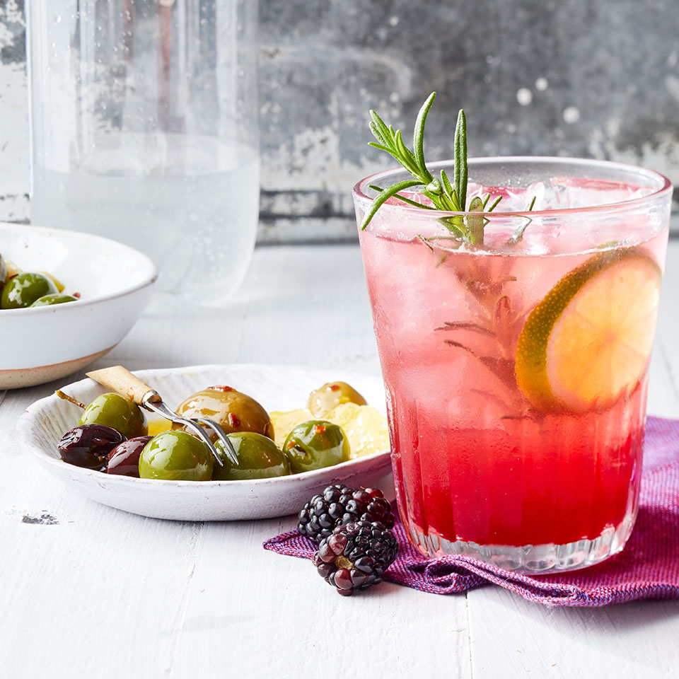 Blackberry-Rosemary Vodka & Soda