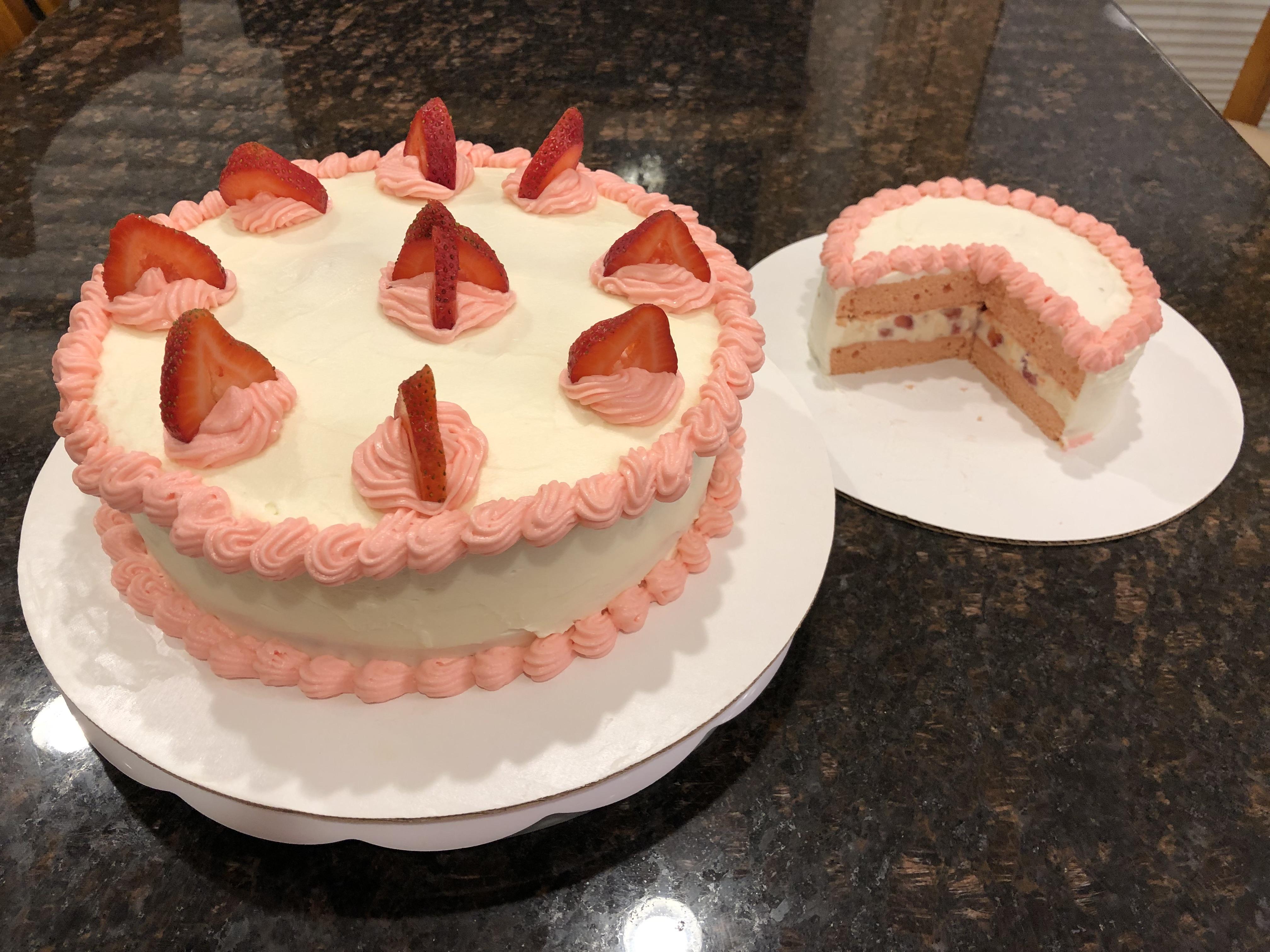 Strawberry Nesquik® Layer Cake