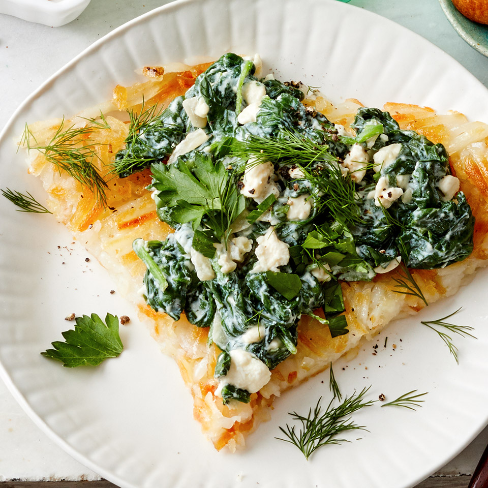 Crispy Shredded Potatoes with Spanakopita Topping Allrecipes Trusted Brands