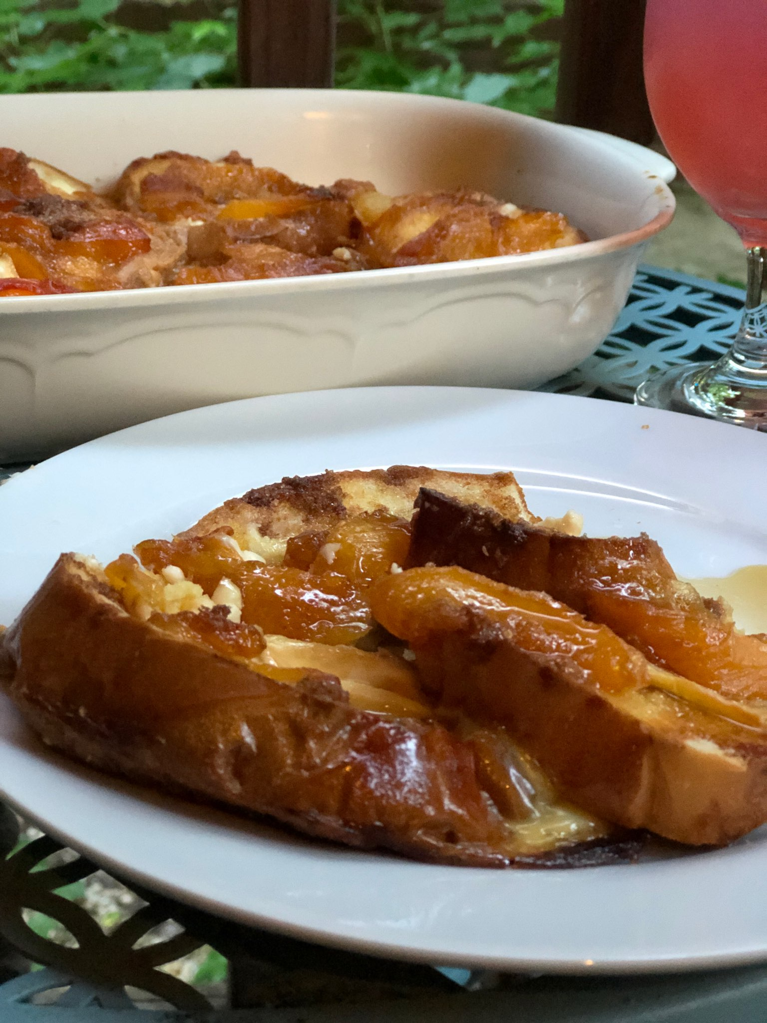 Peaches and Cream French Toast Bake Diana71