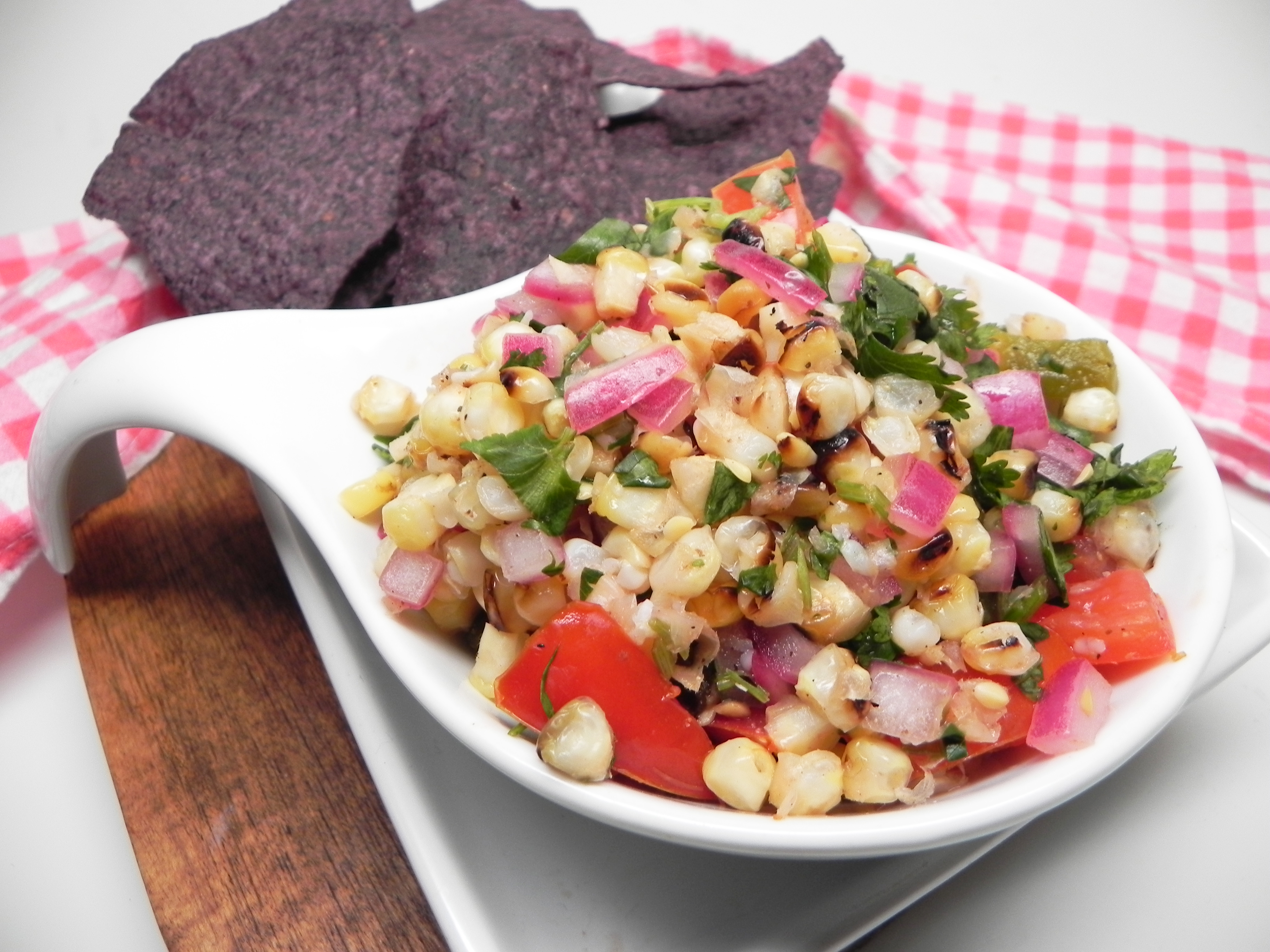 Fire-Roasted Corn Salsa Soup Loving Nicole