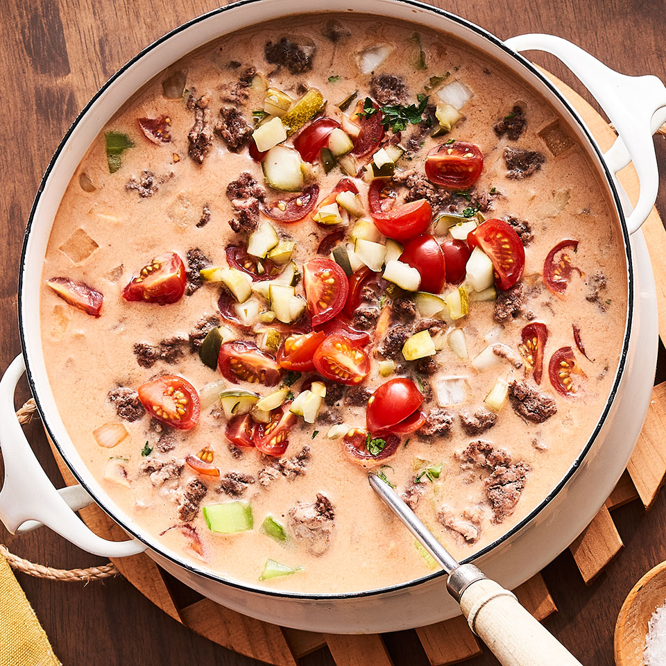 Chunky Cheeseburger Soup