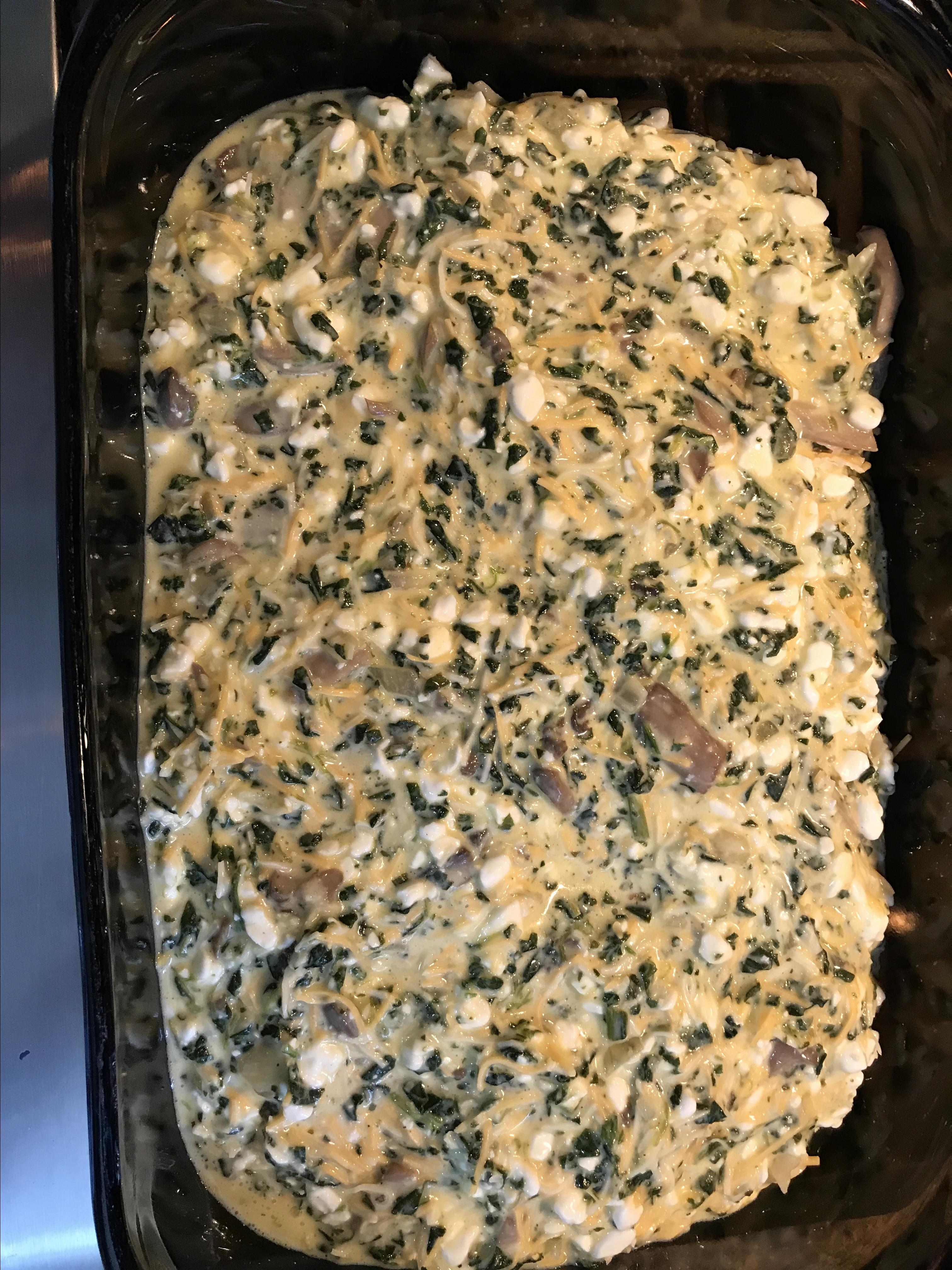 Spinach and Mushroom Egg Casserole Christine