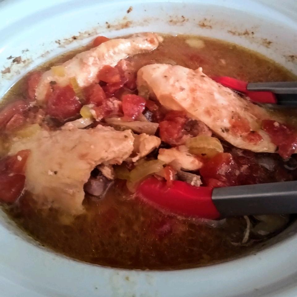 Sarah's Slow Cooker Chicken Cacciatore Tonya Marie