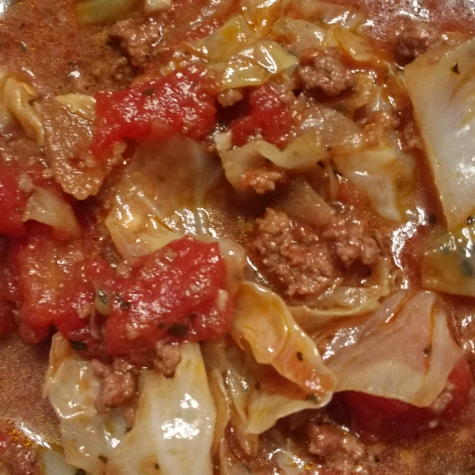 Ground Beef and Chopped Cabbage