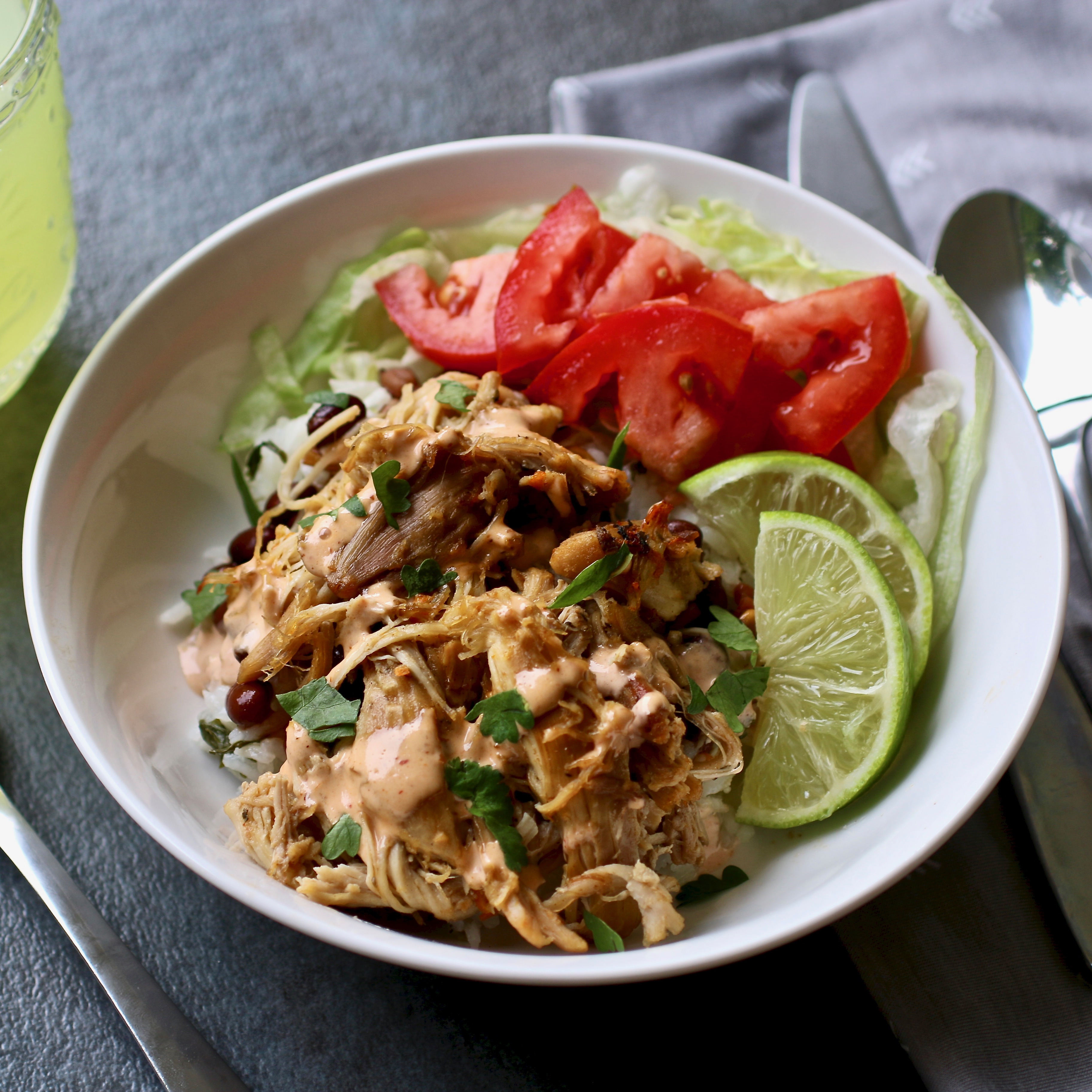 """""""Chicken carnitas made in the pressure cooker are quick and easy!"""" says Margo. """"We crisp them up in the broiler, and they are perfect to meal-prep and enjoy for the week! Serve with tortillas, diced onions, chopped cilantro, sauteed cabbage, lime wedges, and anything else you like!"""""""