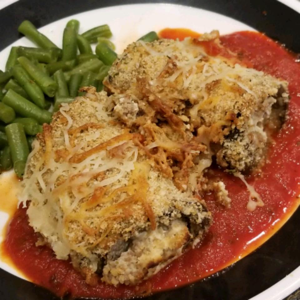 Stuffed Eggplant Parmesan Rolls