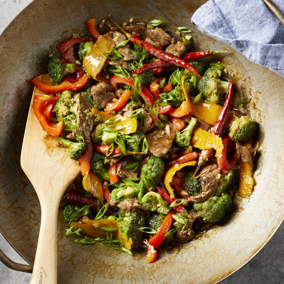 With fresh broccoli, ginger, red bell peppers and plenty of fresh citrus, this healthy beef stir-fry is sure to become a favorite. And it's ready in 30 minutes, making it the perfect healthy weeknight dinner. Serve with brown rice.