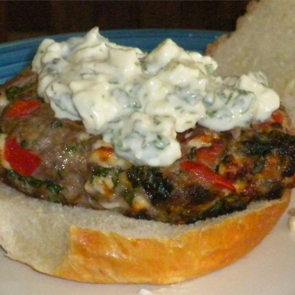 Loaded Greek Burgers Tom  Hansen