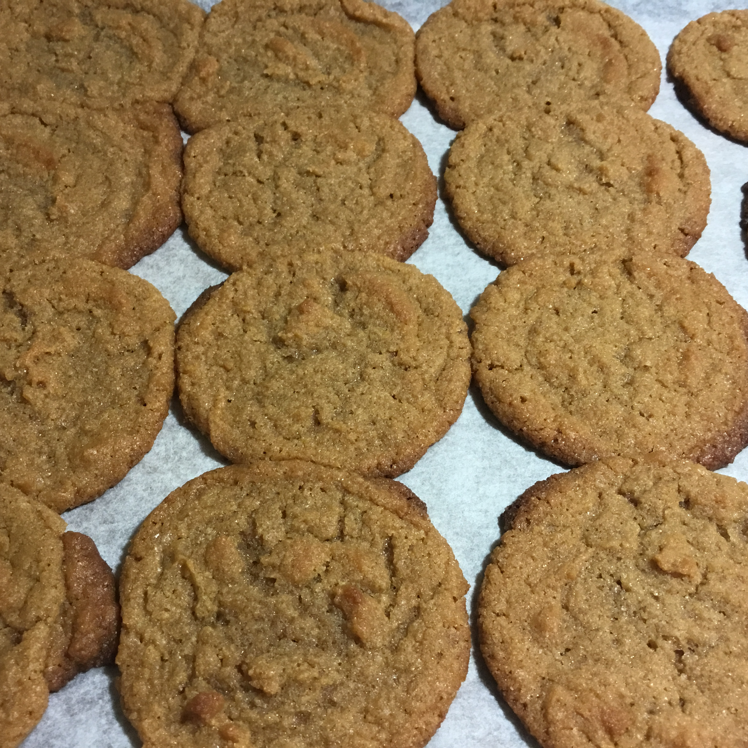 Easy, Chewy Flourless Peanut Butter Cookies dusty