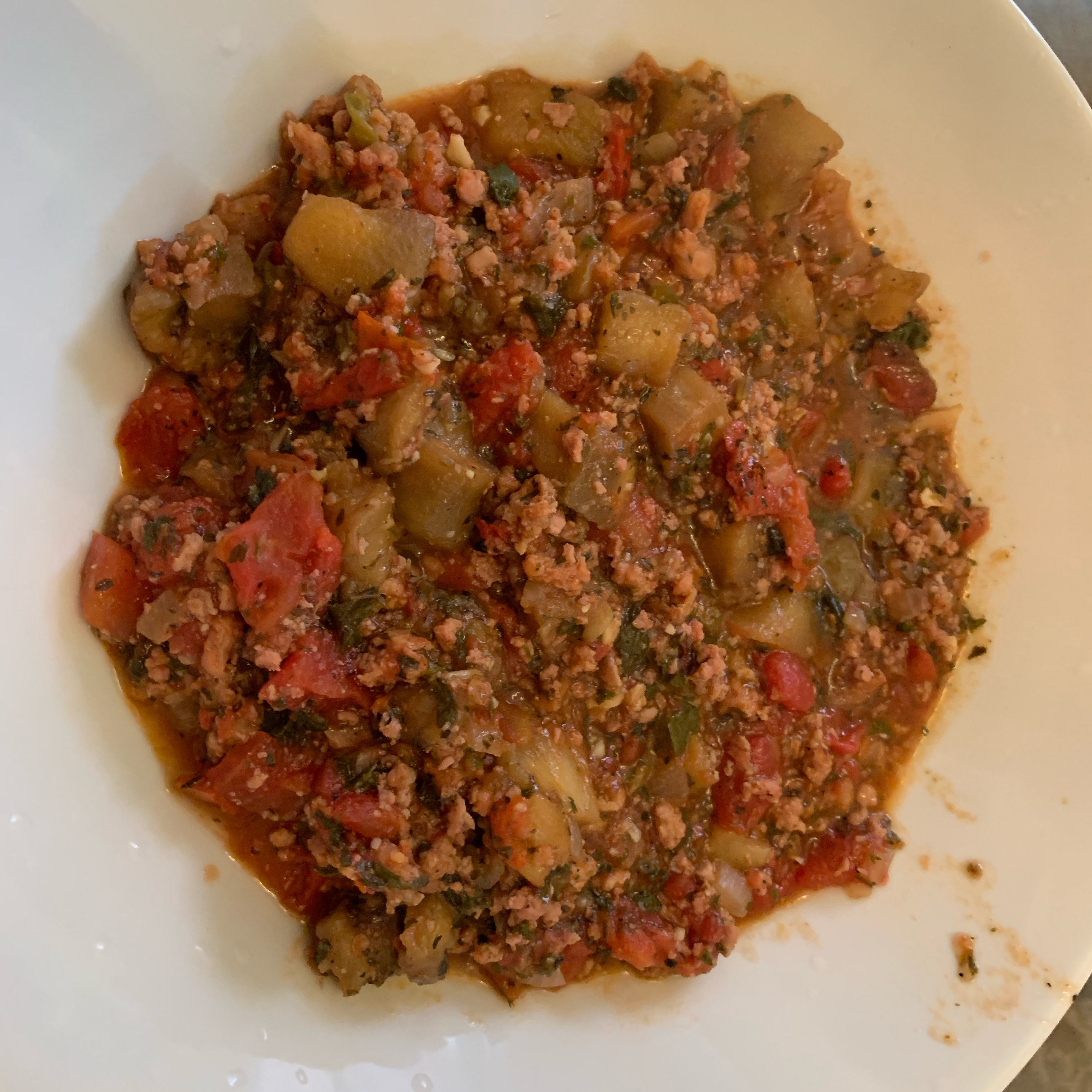 Eggplant Bolognese sce825