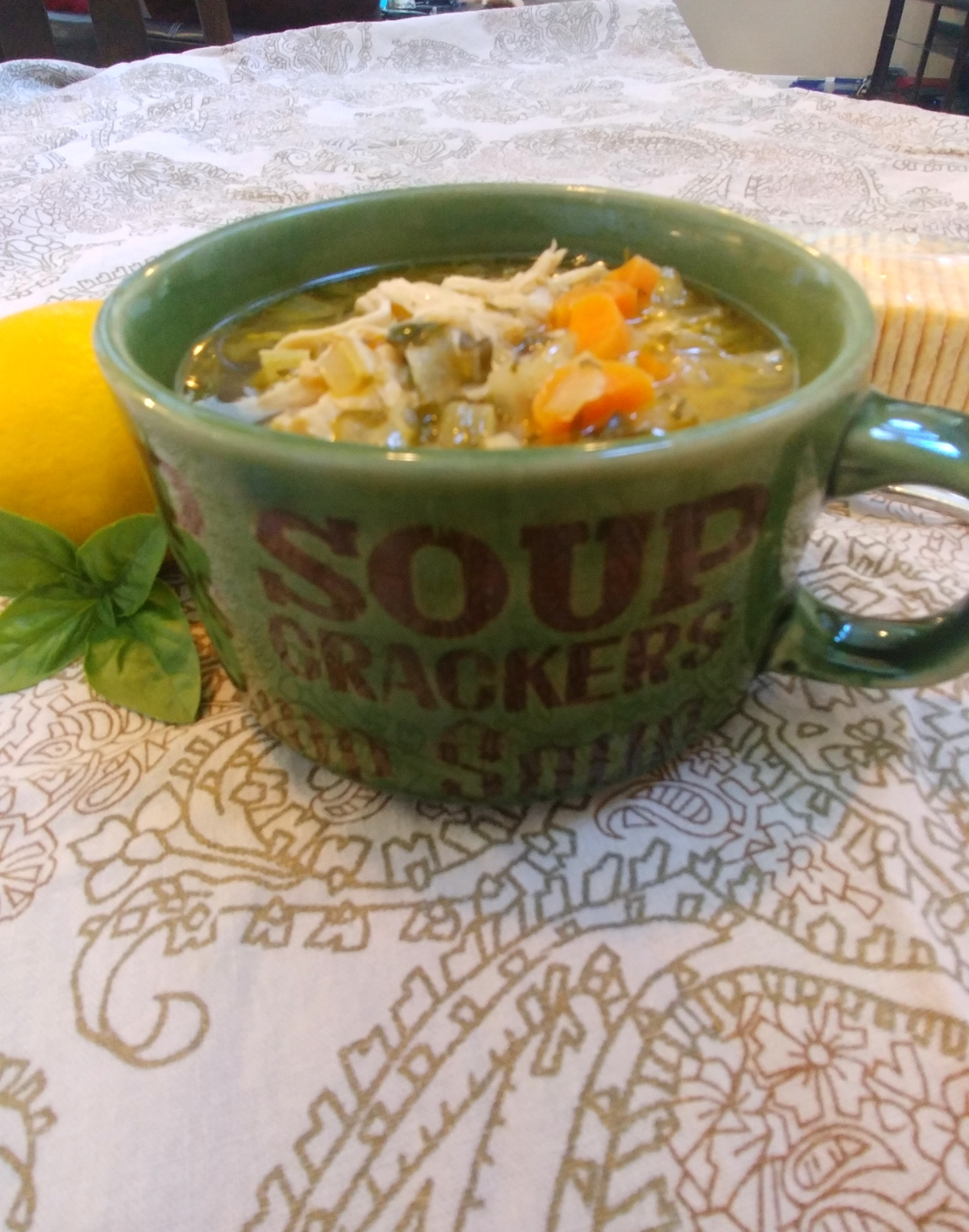 Lemon-Pesto Chicken Soup C R Henning