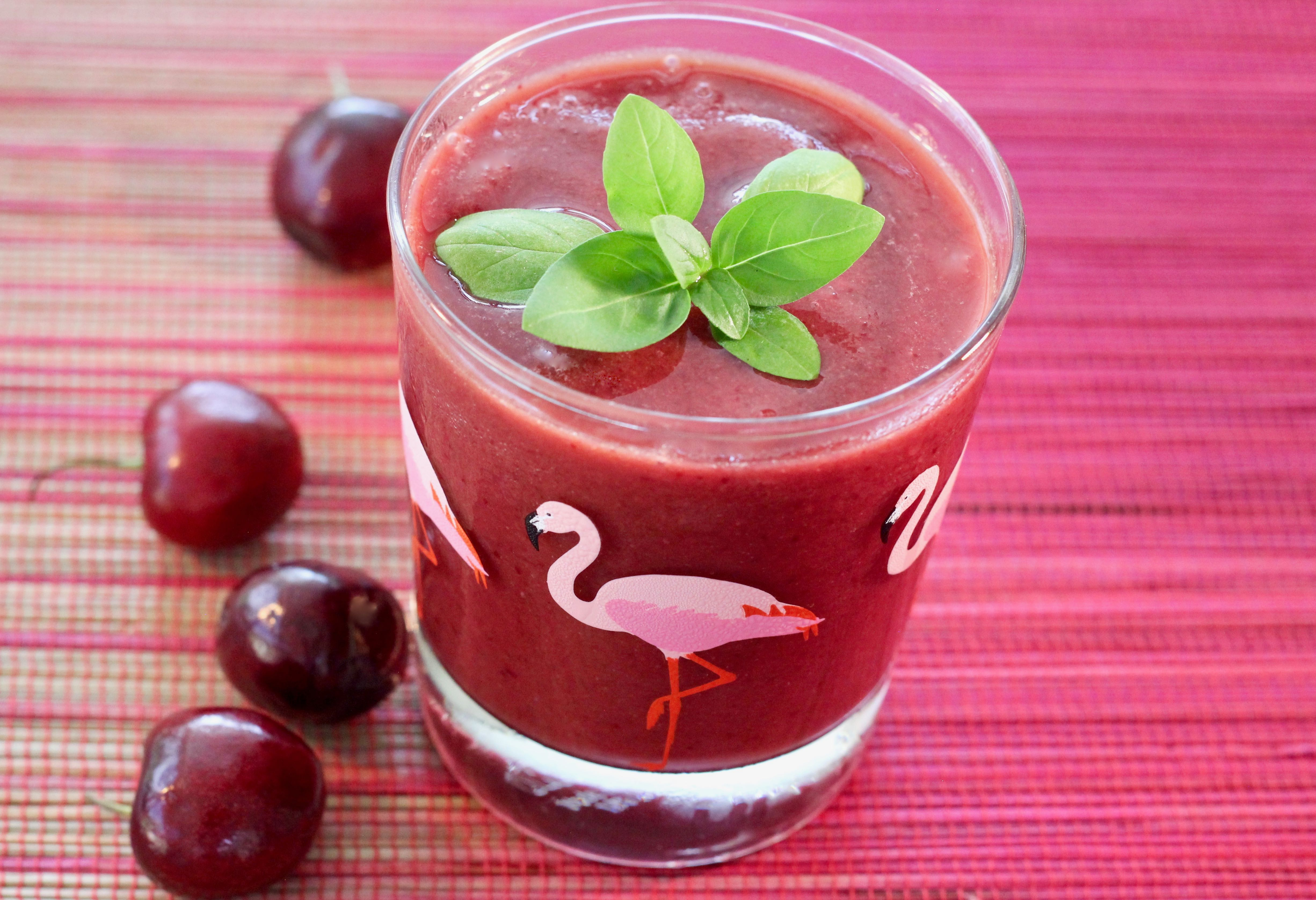 Cherry-Lime-Basil Smoothie