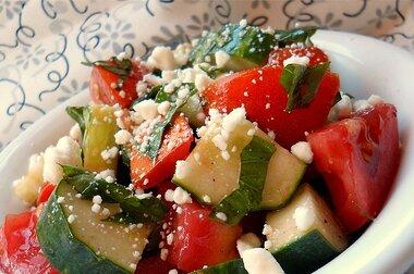 tomato basil and feta salad recipe