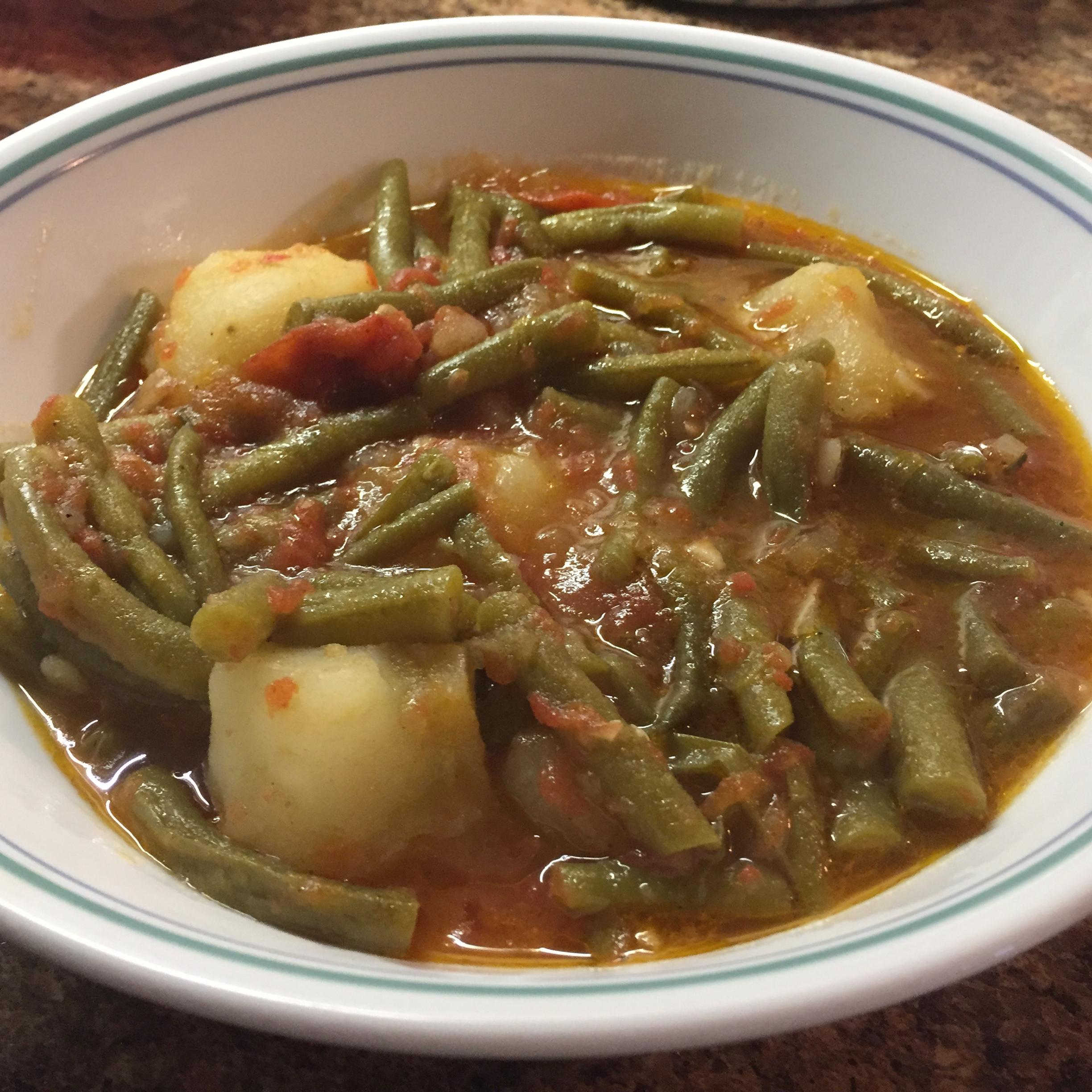 Fasolakia (Greek Green Beans) ladydi