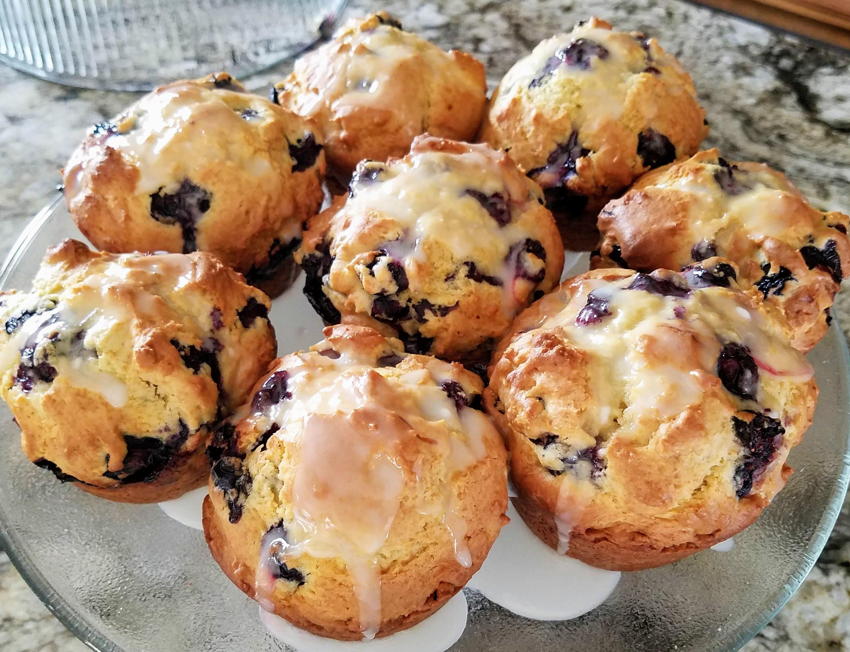 World's Best Lemon Blueberry Muffins
