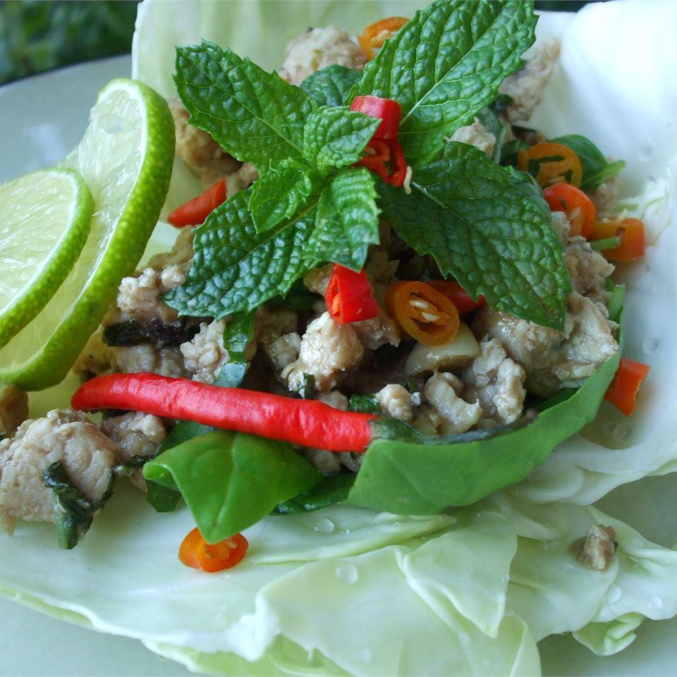Larb - Laotian Chicken Mince Baking Nana
