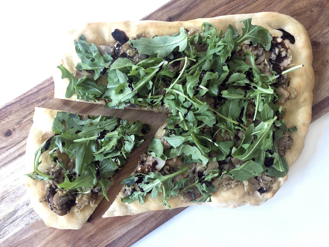 Vegan Artichoke and Mushroom Flatbread