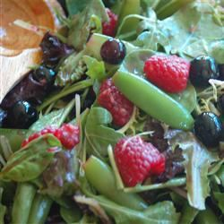 Sugar Snap Pea and Berry Salad Becky