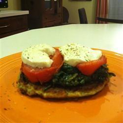 Zucchini Fritters with Fresh Mozzarella and Tomato SarahMac